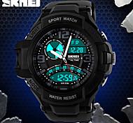 skmei® montre dure design sport analogique-numérique double fuseaux horaires / calendrier / chronographe / alarme pour hommes
