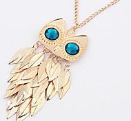 Metal Fashion Owl Tassel Leaves Pendant Necklaces/Chain Necklaces