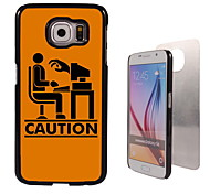 Caution the Computer Pattern Aluminum Hard Case for Samsung Galaxy S6