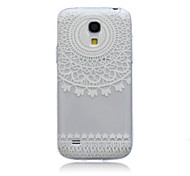 White Flower Pattern Ultrathin TPU Soft Back Cover Case for Samsung Galaxy S4 Mini I9190