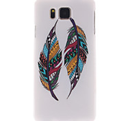 For Samsung Galaxy Case IMD Case Back Cover Case Feathers TPU Samsung Alpha