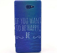 Happy Sea  Pattern PC Hard Case for Sony Xperia M2