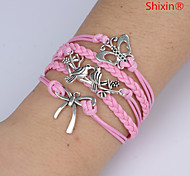 Bracelet Leather Bracelet Alloy Daily / Casual Jewelry Gift Pink,1pc