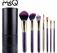 MSQ® 7pcs Makeup Brushes set Hypoallergenic/Limits bacteria Fiber Purple Blush brush Shadow/Lip/Brow Brush Makeup Kit Cosmetic Brushes