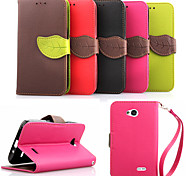 Luxury PU Leather Skin Flip Stand Case For LG L70 Phone Shell Leaf Pouch Wallet Handbag+Lanyard+Card Slot