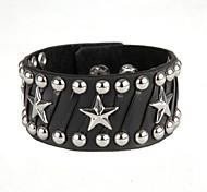 Euramerican Fashion Star Firm Width Bracelet(Black)(1Pc)