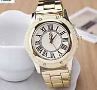 Lady'S Quartz Alloy, Switzerland Watch Planets Cross Steel Band Watch