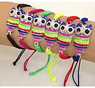 Cheap Owl Colourful Cord Knot Shamballa Knot Bracelets
