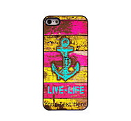 Personalized Gift Live-Life and Anchor Design Aluminum Hard Case for iPhone 5/5S
