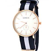 Unisex Casual Fabric Strap Gold Case Quartz Wrist Watch Cool Watch Unique Watch Fashion Watch