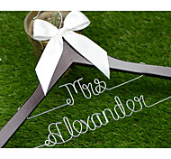 Double Line Personalized Wedding Dress Hanger, Custom Bridal Bridesmaid hanger, Wire Name Hanger WH007