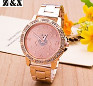Women's Fashion Lovely Bear Diamond Quartz Steel Belt Wrist Watch(Assorted Colors)