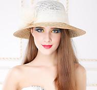 Женский Плетеные изделия Лен Заставка-На каждый день на открытом воздухе Шапки 1 шт.