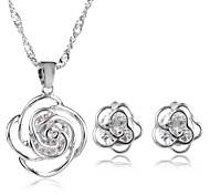 Z&X® Alloy Europe Zircon Flower Jewelry Set Party/Daily 1set(Including Necklaces/Earrings)