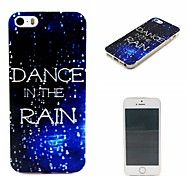 COCO FUN® Walking In The Rain Pattern Soft TPU IMD Back Case Cover for iPhone 5/5S