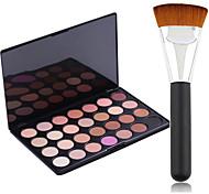 Pro Party 28 Colors Eyeshadow Matt Earth Color Makeup Palette + Powder Brush