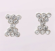 Fashion Mini X Type Diamond  Stud Earrings Wedding/Party/Daily/Casual 2pcs