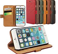 elegante retro lederen grain pu lederen case voor de iPhone 6 (diverse kleuren)