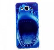Shark Pattern Slim TPU Phone Case for Samsung Galaxy E5