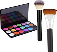 Pro Party 18 Colors Eyeshadow Matt Earth Color Makeup Palette +2 Powder Brush