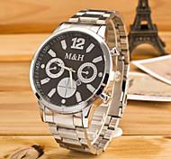 relógio ambiente de negócios de moda terceiro olho quartzo esporte cinta de aço dos homens (cores sortidas)