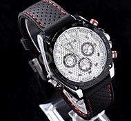 Black Mesh Multifunction Dial Silicone Band Fashion Automatic Mechanical Watches