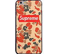 Supreme Pattern Frame Back Cover for iPhone 6