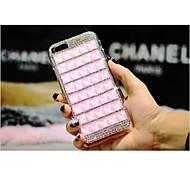 Luxus Deluxe Handarbeit Telefon-Hüllen bling Quadratmeter Diamant-Strass Festplatte zurück Fall Deckung für iPhone 4