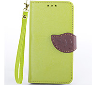 Magnetic Leaf Pattern Pu Leather for Motorola X Wallet Case for Moto X Flip Cover Stand Card Slot