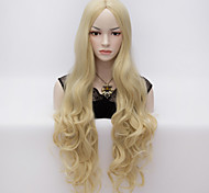 80cm U Party Curly Cosplay Party Wig Multi colors available Light Blonde