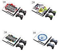 Designer Vinyl Skin Sticker for PlayStation PS3 Slim System & Remote Controllers