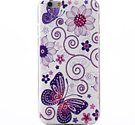Butterfly Pattern TPU Soft Material Phone Case for iPhone 6