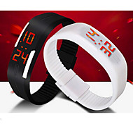 Unisex LED Digital Candy Color Silicone Strap Bracelet Sports Wristwatch Cool Watch Unique Watch