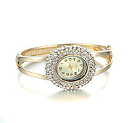 Sjewelry Girl Quartz White Crystal Golden Bangle Watch Cool Watches Unique Watches