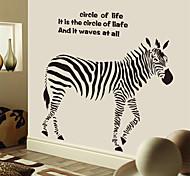 Creative Black Zebra Letters PVC Wall Sticker Wall Decals