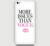 caso labbra inglese del modello del telefono copertura di caso per iphone5c