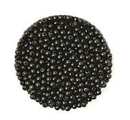 beadia 58g (ca. 2000pcs) 4mm lang abs Perlen schwarz Kunststoff-Perlen
