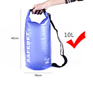 Rafting Bag Dry Bag Waterproof Travel Bag Backpack Type 10 Liters Blue