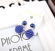 Pearl Earrings New Fashion Hot Selling Earring Double Sided Shining Pearl Stud Earrings Big Pearl Earring For Women Girl