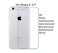10PCS For iPhone 6 4.7'' Back Side HD Transparent Screen Protector Film