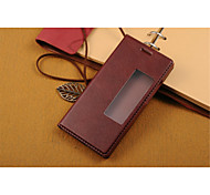 Full Body with Stand / with Windows / Flip Solid Color PU Leather Hard Case Cover For Huawei Huawei P7