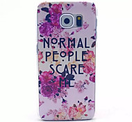 Ordinary People Pattern PC Hard Case for Samsung Galaxy S6
