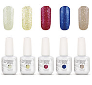 Gelpolish Nail Art Soak Off UV Nail Gel Polish Color Gel Manicure Kit 5 Colors Set S112