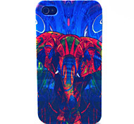 Painted Elephant Pattern TPU Material Phone Case for iPhone 4/4S