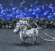 925 Collana pendente contenitore di monili pecore in questo animale anno ciondolo pecore zodiaco