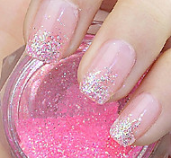 Pink Glitter Powder Nail Art Decorations