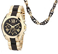 Woman Watch  Box Watch And Necklace