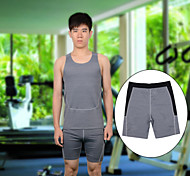 Men's Breathable Quick-Dry Tight Running Fitness Shorts – Dark Gray (Size M/L/XL)