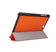 For Samsung Galaxy Case with Stand / Flip / Origami Case Full Body Case Solid Color PU Leather Samsung Tab A 9.7