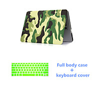"""Fashion Camouflage Full Body Case with Silicone Keyboard Cover for Macbook Retina 13.3 """" (Assorted Colors)"""